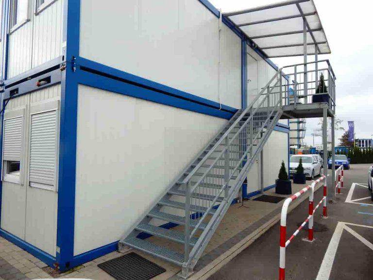 Schody kontenerowe zpodestem producent weldon wynajem schodów dokontenerów